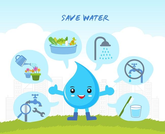 Ilustrasi menghemat air